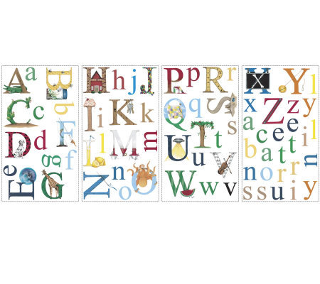 RoomMates Alphabet Peel & Stick Wall Decals