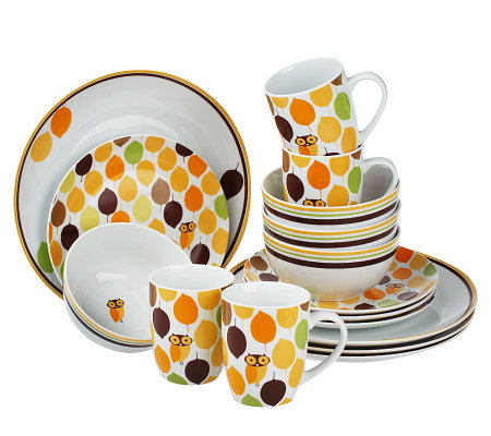 Rachael Ray Little Hoot 16-piece Service for 4 Dinnerware Set  sc 1 st  QVC.com & Rachael Ray Little Hoot 16-piece Service for 4 Dinnerware Set - Page ...