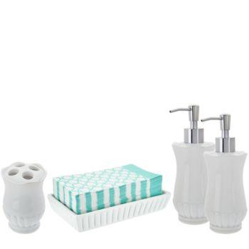 Home Reflections 4pc Bath Set including 50 Napkins
