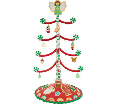"Hallmark Keepsake 14"" Sweet Treats Christmas Tree w/12 Ornaments"
