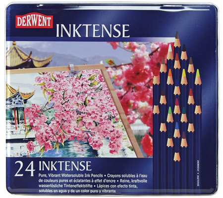Derwent Inktense 24-Piece Colored Pencil Set