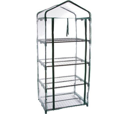 Pure Garden 4-Tier Mini Greenhouse with 4 Shelves and Cover
