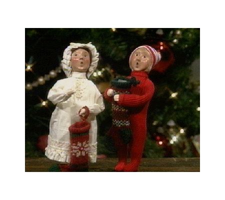 Byers Choice Carolers Boy Or Girl With Stocking Qvc Com