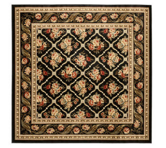 "Lyndhurst Floral Lattice Power Loomed 6'7"" x 6'7"" Square Rug - H356834"