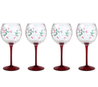 Pfaltzgraff Winterberry Wine Goblet Set of 4 - H363334