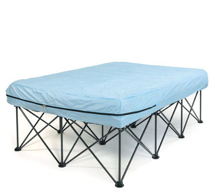 full portable bed frame for airfilled mattresses with bag