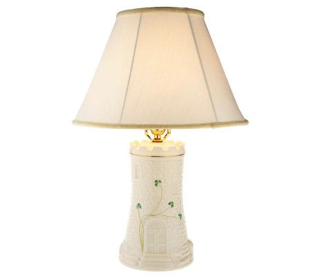 Belleek Castle Lamp with Painted Shamrock Detail and Shade - Page ...