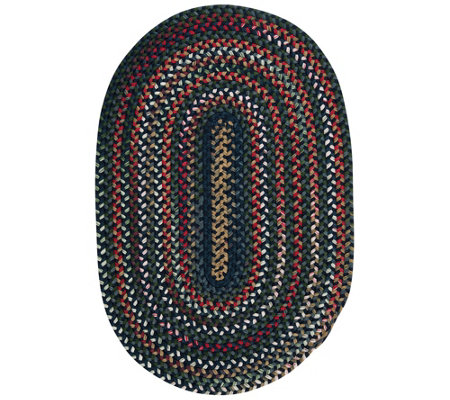 Chestnut Knoll 3' x 5' Oval Braided Rug by Colonial Mills