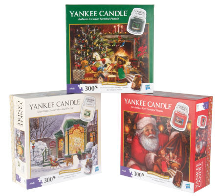 Yankee Candle Set of 3 Holiday Scented Puzzles