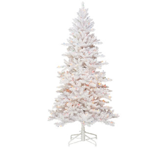 Bethlehem Lights 5' White Spruce Christmas Tree w/Instant Power - H203335