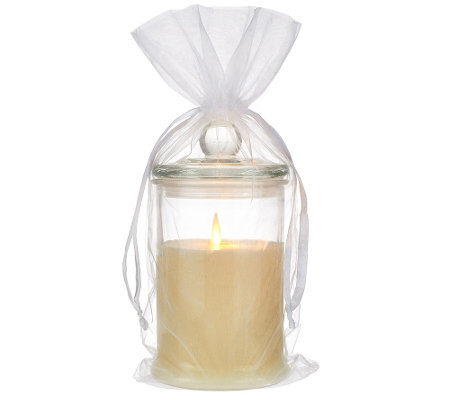 "Luminara Flameless Candle in 7"" Glass Jar with Gift Bag"
