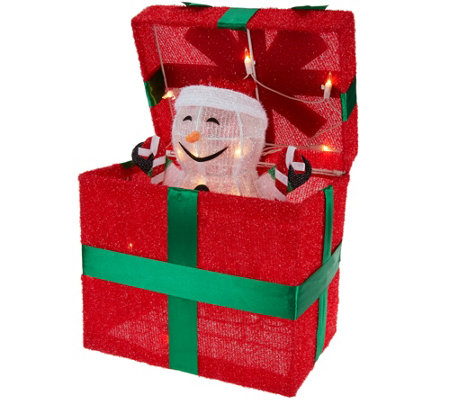 Kringle Express Outdoor Gift Box with Animated Character