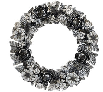 "ED On Air 18"" Metal Floral Wreath by Ellen DeGeneres - H207035"