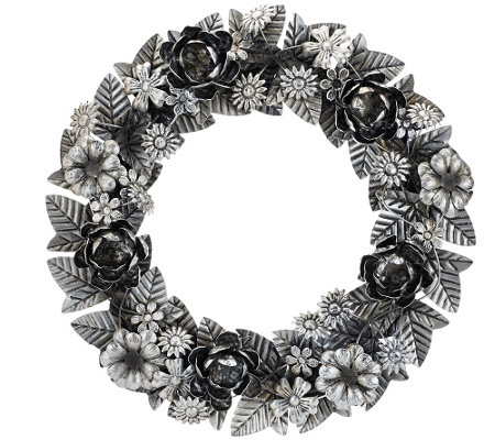 "ED On Air 18"" Metal Floral Wreath by Ellen DeGeneres"