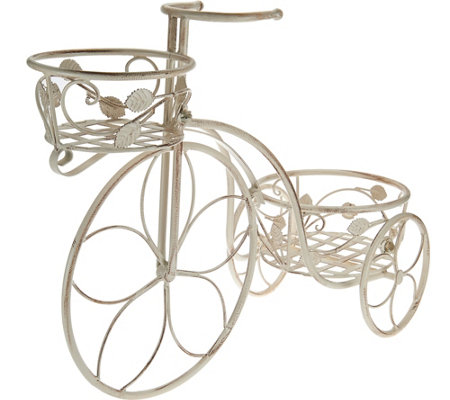 "Indoor/Outdoor 18"" Two Tier Tricycle Planter by Valerie"