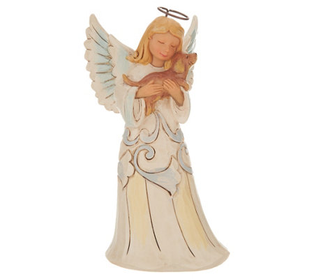 Jim Shore Woodland Collection Angel with Dog Figurine