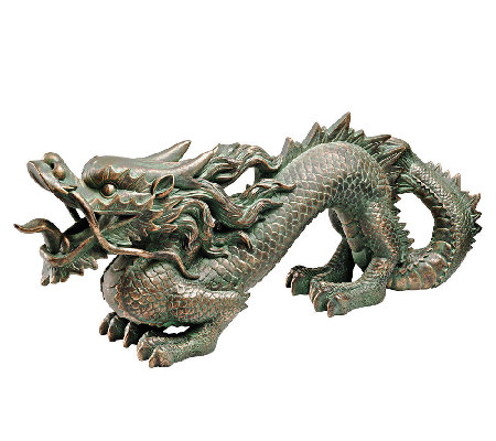 Design Toscano Asian Dragon of the Great Wall S tatue
