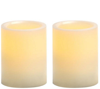 "Candle Impressions S/2 4"" Flameless Pillar Candles - H286635"