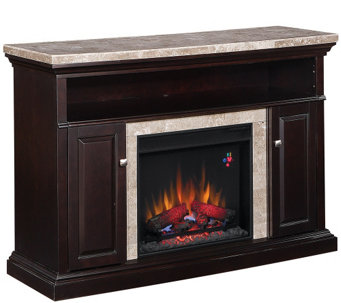 Twin Star Brighton TV/Media Mantel Fireplace with Remote - H287535