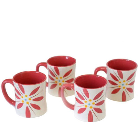 Temp-tations Old World Vivid Set of 4 Mugs