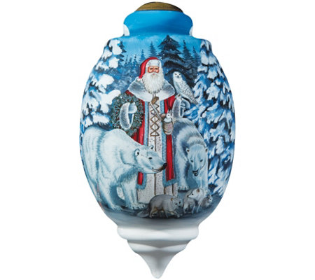 Limited Edition Arctic Santa Ornament by Ne'Qwa