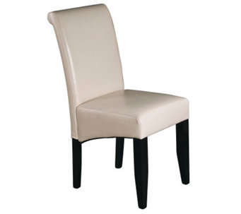 Parsons Chair in Cream Faux Leather by Office Star - H349735