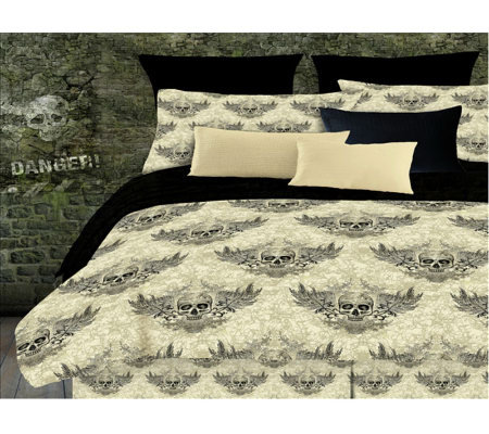 Veratex Winged Skull Full Comforter Set