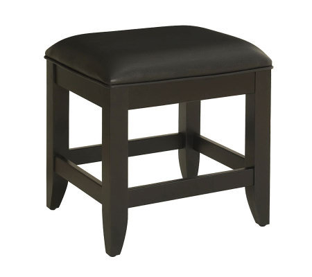 Home Styles Bedford Black Vanity Bench