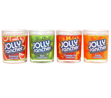 Set of 4 Jolly Rancher Tumbler Candles by Valerie