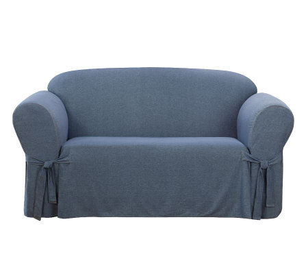 Sure Fit Denim Sofa Slipcover Qvc Com