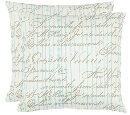 "Safavieh Set of 2 18""x18"" Camilla French Laundry Pillows"