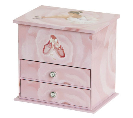 Mele co casey girl 39 s musical ballerina jewelry box for Girls large jewelry box