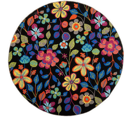 Safavieh Four Seasons 4' Diam Round Rug Indoor/Outdoor