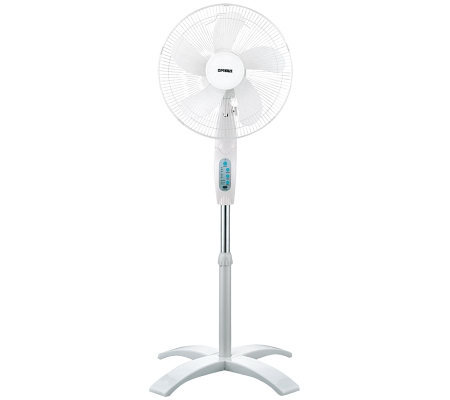 "Optimus 16"" Wave Oscillating Stand Fan with Remote"