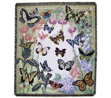 Butterflies are Free Cotton Throw by Simply Home