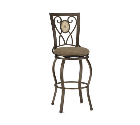 Hillsdale Furniture Brookside Oval Fossil BackSwivel Bar Stool