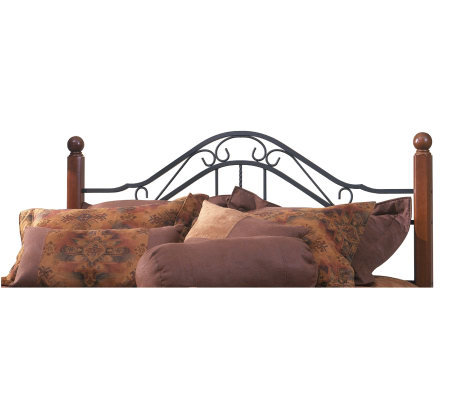 Hillsdale House Madison King Headboard - CherryFinish/Black