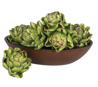 "5"" Artichoke (Set of 6) by Nearly Natural - H179236"