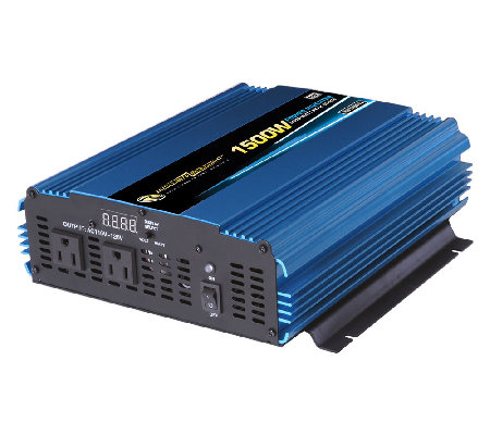 12 Volt DC to AC 1500 Watt Power Inverter