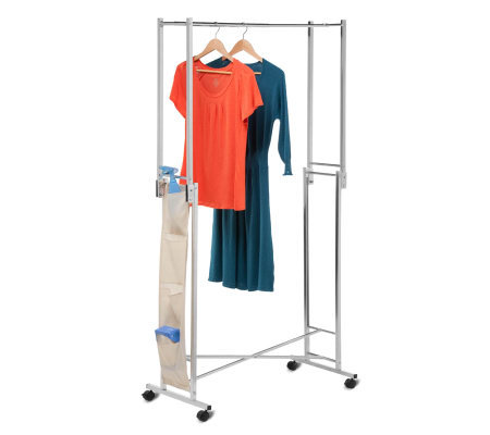 Honey-Can-Do Steel Double Folding Square Tube Garment Rack
