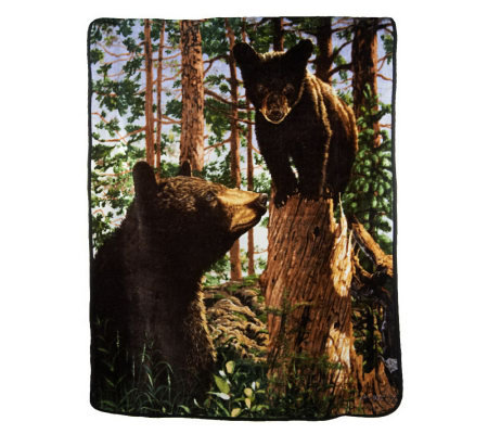 "Luxe Velour Oversized 60""x80"" Animal Photo Cozy Throw"