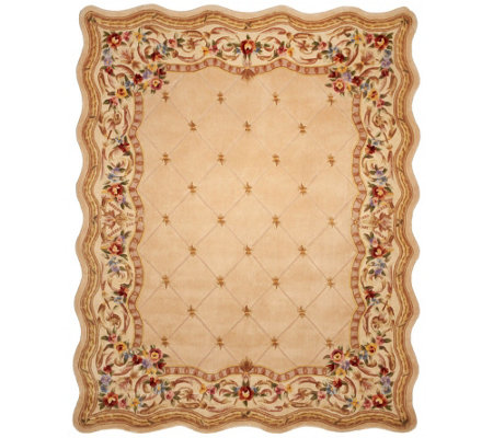 Royal Palace Fleur De Lis Scallop 8' x 10' Wool Rug
