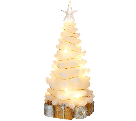 "Lightscapes 11"" Swirl Light Christmas Tree Figurine"