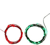 ED On Air Set of 2 Micro Light Strands by Ellen DeGeneres - H209536