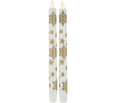 candle impressions set of 2 mirage flameless taper candles