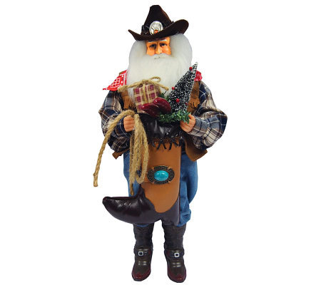 "18"" Cowboy Santa by Santa's Workshop"