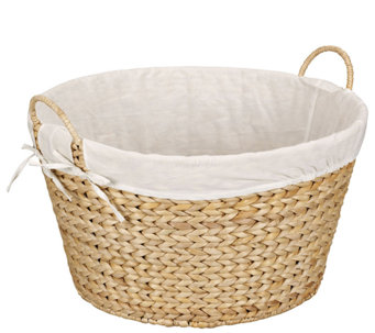 Household Essentials Banana Leaf Round LaundryHamper - H285136