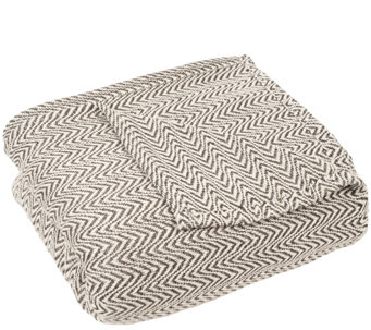 Lavish Home Chevron Full/Queen Blanket - H288936