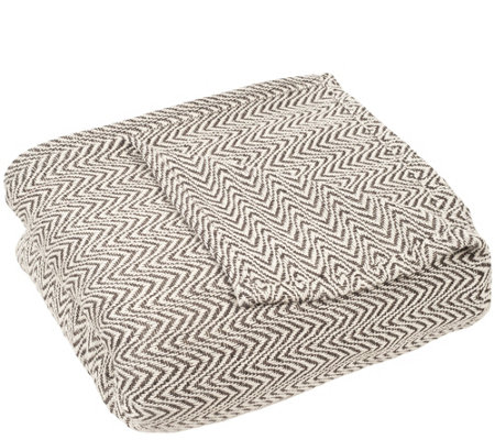 Lavish Home Chevron Full/Queen Blanket