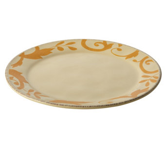 Rachael Ray Dinnerware Gold Scroll 12-1/2-InchRound Platter - H290236